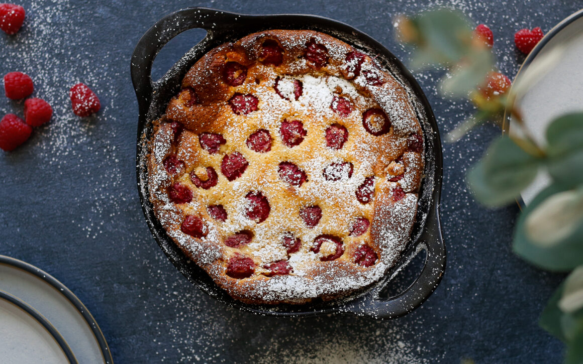 Raspberry with Almond Clafoutis
