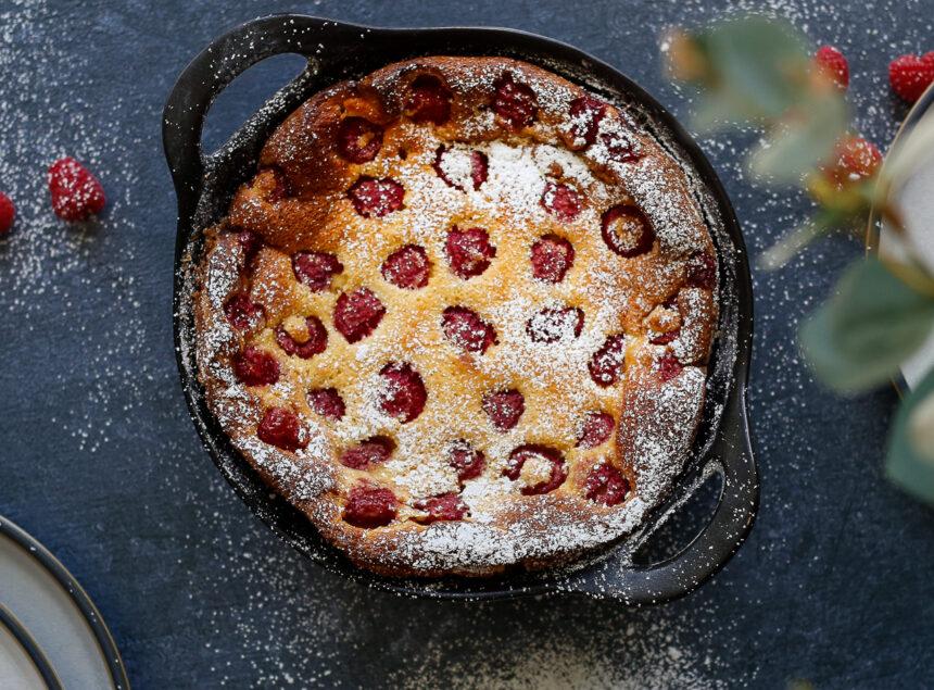Raspberry with Almond Clafoutis